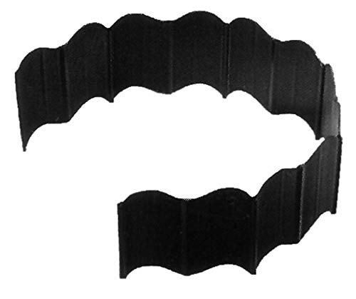 "Suncast Resin Quick Edge No Dig Decorative Landscape Border - Interlocking Edging & Curved Borders for Lawn, Garden, & Flower Bed - Forty 6"" Sections - Black Vinyl"