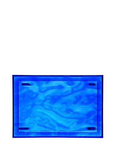 Kartell Plateau Dune Grand, Plastique, Bleu, 55 x 38 x 3 cm