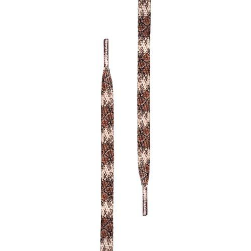 Tubelaces Special Flat Schnürsenkel, Braun (Cobra) 81-90 cm, 5er Pack