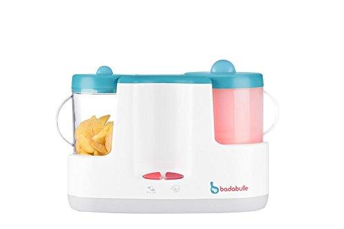 Badabulle Baby Station 4-in-1 Babynahrungszubereiter, Dampfgaren, Mixen, Erwärmen von Fläschchen und Babybrei, Auftauen