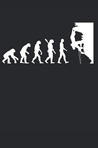 Kletterer Evolution: Cooles Kletterer & Boulderer Notizbuch, Berg Natur Klettern & Bouldering Geschenk Spruch, Kariert 120 Seiten, A5.