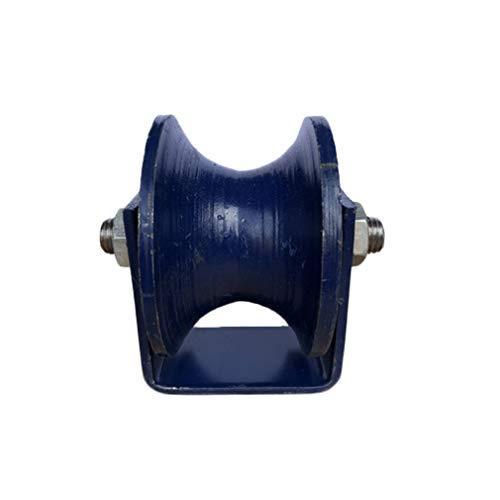 U-Nut Schiebetor Rollen,Gusseisen Steifer Schwerlastrollen,Doppellager Design,für Rolling Gate,Industriemaschinen,Drahtseilschiene,Rundrohr(65mm/2.5in)