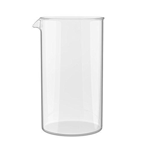 bonVIVO Ersatzglas für alle handelsüblichen Kaffeebereiter und French Press (350 ml, 3 Tassen, 3 Cups) - Ersatzbehälter