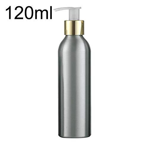 jiyoujianzhu Spenderflasche, Aluminium, 40 ml-250 ml, rostfrei, Press-Typ, Kosmetik, Shampoo, Duschgel