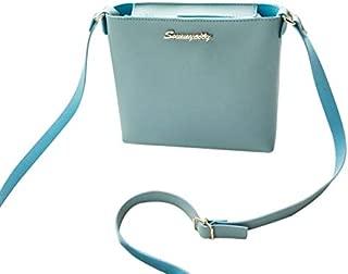 WTYD Single Shoulder Bag Women Solid Zipper Shoulder Bag Crossbody Bag Messenger Phone Coin Bag(Black) (Color : Blue)