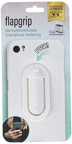 flapgrip - Die Original Smartphone-Halterung aus 'die Höhle der Löwen' | Hochwertige, extra verstärkte Navi-Halterung, Mediaständer, Selfie-Grip und mehr | Designed um Dein Leben zu vereinfachen weiß