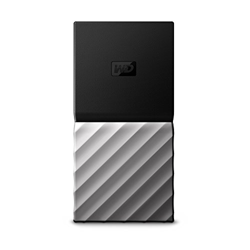 WD 1TB My Passport SSD Portable Storage - USB 3.1 - Black-Gray - WDBK3E0010PSL-WESN