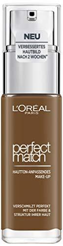 L'Oréal Paris Perfect Match Make-up 9.R/9.C Deep Cool, flüssiges Make-up, hautton-anpassend, pflegt die Haut mit Hyaluron und Aloe Vera