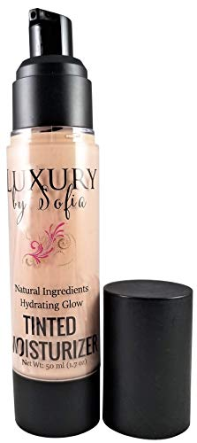 Luxury By Sofia Tinted Moisturizer | Organic & Natural Ingredients | Moisturizes, Brightens, Smooths & Plumps Skin | Deep Skin Hydration With Certified, Skin-Friendly & Safe Properties (Fair Light)