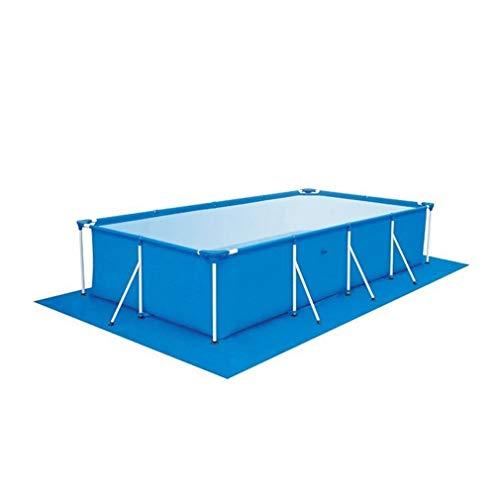 Zwembad Ronde gronddoek Lipafdekking Stofdichte matafdekking voor tuinblauw 445x254CM