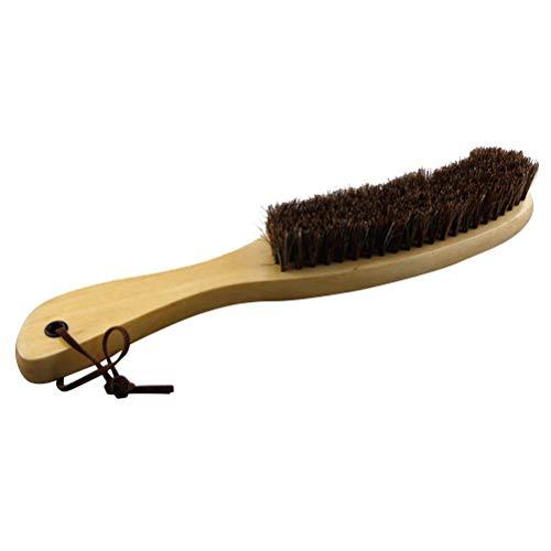 Frcolor Weiche Rosshaar-Borstenbürste Holzgriff Reinigungsbürste für Möbel Kleidung Mantel Anzug Lint Kleidung oder andere Lederpflege