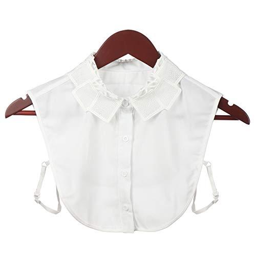 Ztengyu-Cuello de imitación Mujer Falsa Collar Blusa Blusa Superior, Blanco y Negro Vintage Desmontable Cuello Falso Accesorios de Ropa (Color : A 5)