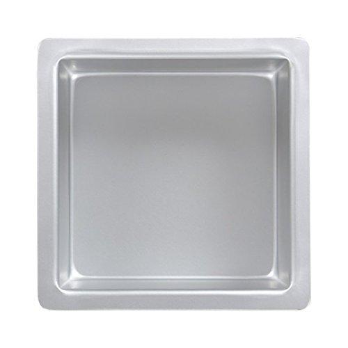 PME SQR123 Quadratische Backform aus eloxiertem Aluminium, 305 x 305 x 76 mm, Silver, 30 x 30 x 7.5 cm