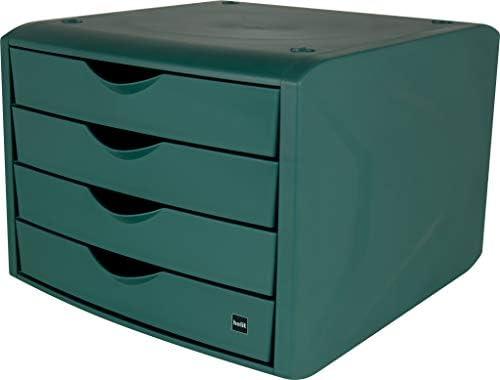 HelitBo 238;te de rangement pour tiroir171; The green chameleon187; en plastique recycl 233; certifi 233; par un ange bleu vert