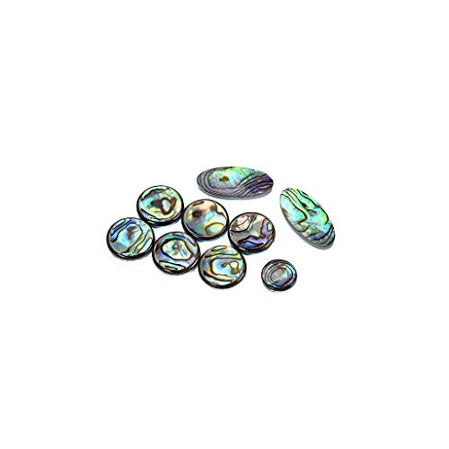 Alnicov Hochwertiges 9-teiliges Set für Alt-, Tenor-, Sopran-Saxophon-, Saxophon-Perlen, Schlüsselknöpfe, Inlays Zubehör, mehrfarbig