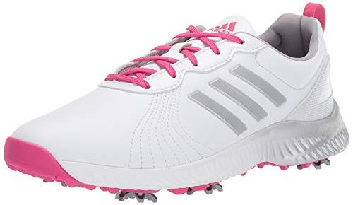 adidas Women's Response Bounce Golf Shoe, white/magenta/silver met., 11 M US