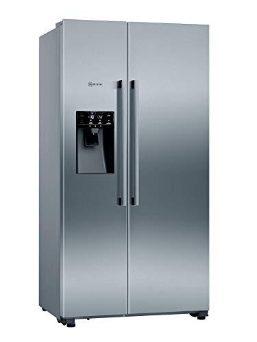 NEFF KA3923IE0 Side by Side N70 - Inox-Anti-impronte / 178,7 x 90,8 cm (A x L), frigorifero da 368 l, congelatore da 165 l, FreshSafe 2, NoFrost