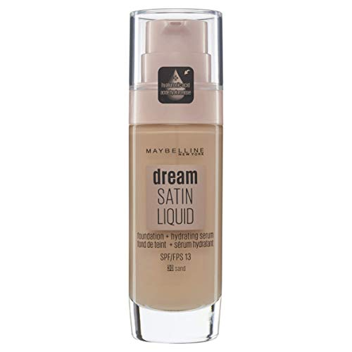 Maybelline New York Dream Satin Liquid, Base de Maquillaje Líquida con Sérum Hidratante, Tono 030 Sand