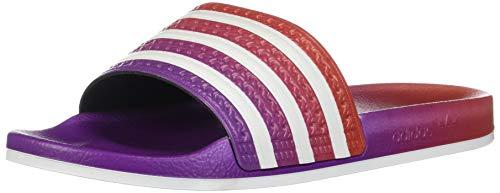 Adidas - Adilette - Chanclas para hombre, color Morado, talla 38.5 EU