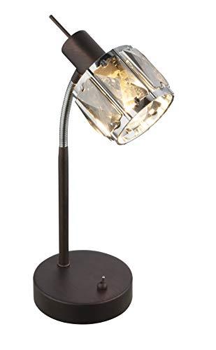 Flexo - Lámpara de mesa (cromo, ahumado), color bronce