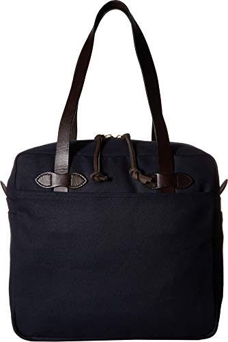 Filson Men's Tote Bag with Zipper, Navy, One Size