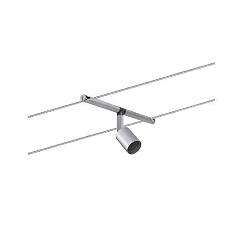 Paulmann 94139 Seil-Leuchte Salt Chrom matt Ergänzung für Seilsystem Seilleuchte ohne Leuchtmittel Spot max. 10W GU5,3 Lampe frei wählbar