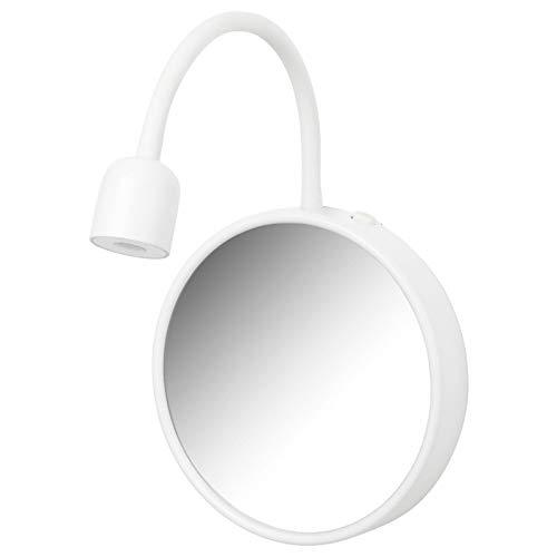 IKEA BLAVIK lampa ścienna z lustrem, w kolorze białym, na baterie