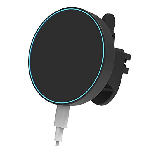 Cargador inalámbrico para coche de 15 W, carga rápida Qi, soporte para el salpicadero del coche, soporte para rejilla de ventilación, compatible con iPhone 12/Mini/11 Pro Max, Samsung Note 10