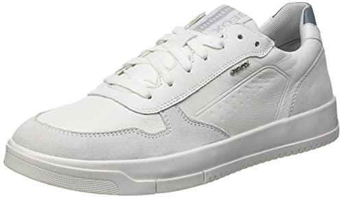 Geox Herren U SEGNALE B Sneaker, White/Jeans, 42 EU