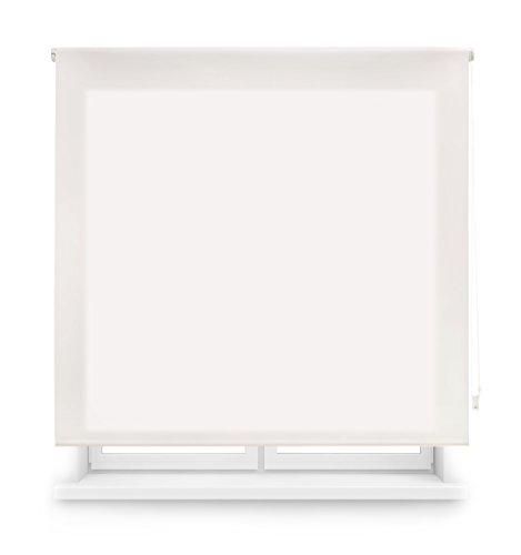 Blindecor Ara - Estor enrollable translúcido liso, Blanco Roto, 120 x 175 cm (ancho x alto)