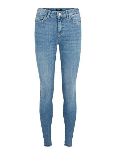 PIECES Female Skinny Fit Jeans Cropped XSLight Blue Denim
