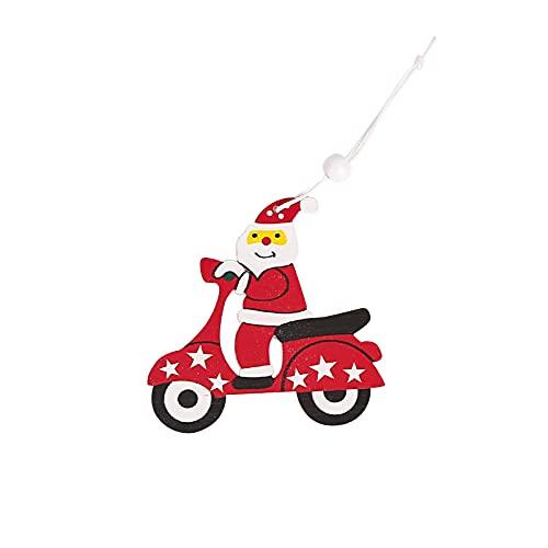 wojonifuiliy Anhänger Dekoration Holz, Anhänger Holz Weihnachten, Weihnachtsbaum Holzanhänger Deko, weihnachtsdeko basteln, Weihnachtsmann-Elch-Anhänger, Ornamenten für Weihnachtsbaum (A)