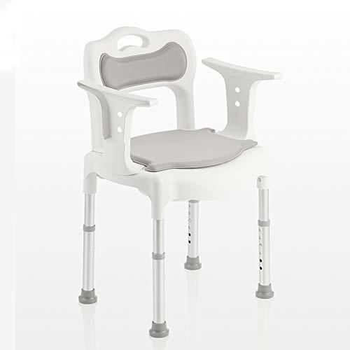 SSZZ Höhenverstellbarer Duschhocker Mit Armlehnen-Toilettensitz Für Ältere Menschen, Behindertengerechter Und Behindertengerechter Toilettensitz Für Schwangere Frauen