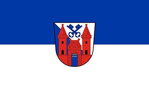 Unbekannt magFlags Tisch-Fahne/Tisch-Flagge: Ladenburg 15x25cm inkl. Tisch-Ständer