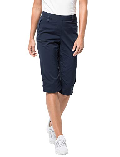 Jack Wolfskin Damen Activate Light 3/4 Pants Softshell-Hose, Midnight Blue, 38
