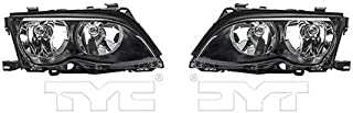CarLights360: Fits 2002 2003 2004 2005 BMW 325i Headlight Assembly Driver and Passenger Side DOT Certified w/Bulbs Halogen Type - Replaces BM2502122 BM2503122