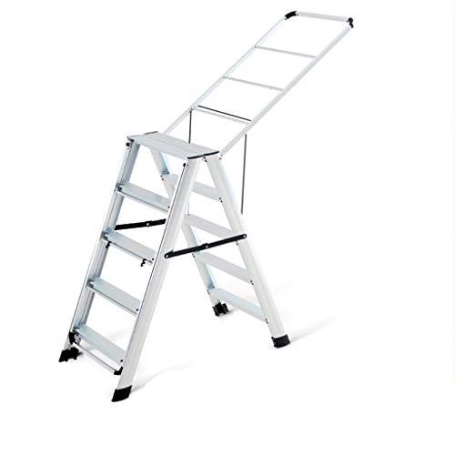 WHF Trittleiter , Leiter , Klappschritte Für Tritthocker Bilaterale Fünfstufige Leiter Doppelseitiger Wäscheständer Höhe Höhenverstellbarer Kleiderbügel - Kleiderbügel Leitern,C,50 X 100 X 100 cm