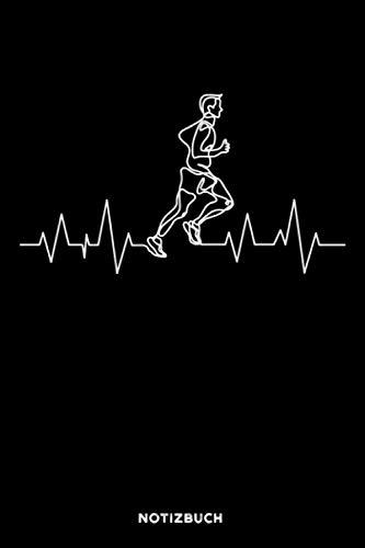 Läufer Herzschlag: Notizbuch für Läufer | liniert | 120 Seiten | ca. A5 Format (15.24cm x 22.86 cm)