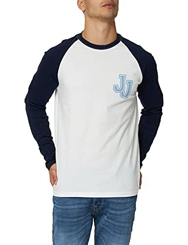 Jack & Jones JACWARREN LS T-Shirt Camiseta, Azul marítimo, XXL para Hombre
