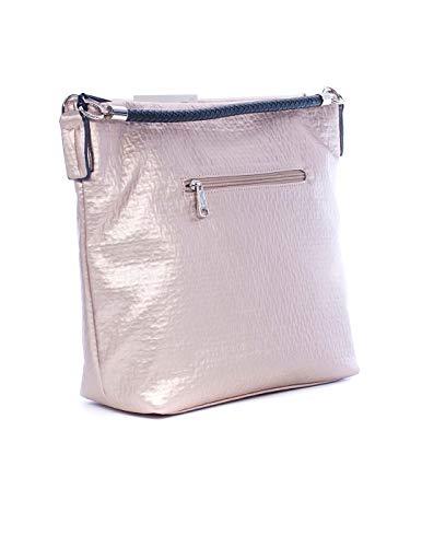 PEPE MOLL Bolso Grande Mujer Metalizado Nude 46123 One Size rosa