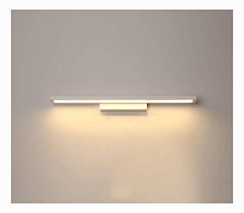 Bath Mirror Lamps Mirror Front Light, Modern Minimalist LED Bedside Lamp Bathroom Nordic Dressing Bathroom Wall Lamp Mirror Headlights (Color, White Light-55CM),Warm Light-40cm