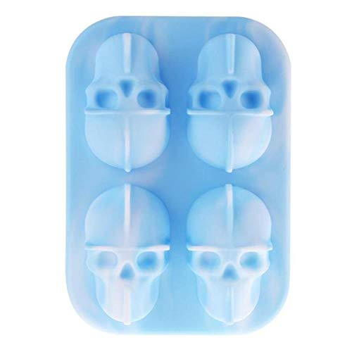 3D-Schädel-EIS-Silikon-Form-Hersteller Eiswürfel Pudding-Form-Kuchen-Süßigkeit-Form-Stab-Partei kühler Wein Ice Cream Küche DIY Zubehör, G