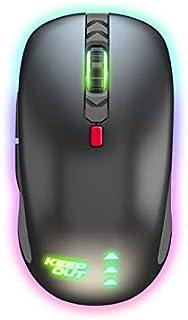 Keep Out Gaming X4Pro - Ratón (hasta 2500 dpi), 6 Botones, 4 Niveles de Sensibilidad, Cable Nylon 1'8 Metros, Iluminación Led RGB, Color Negro