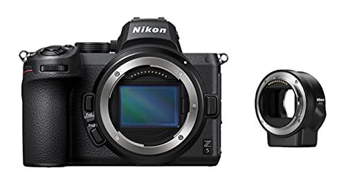 Nikon Z 5 Spiegellose Vollformat-Kamera mit Nikon FTZ-Adapter (24,3 MP, Hybrid-AF mit 273 Messfeldern und Fokus-Assistent, 5-Achsen-Bildstabilisator, 4K UHD Video, doppeltes Speicherkartenfach)