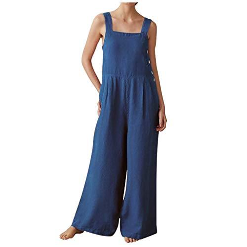 Sale!! Toimothcn Women Overall Romper Plus Size V Neck Backless Long Pants Jumpsuit Sleeveless Clubw...