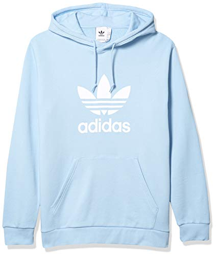 adidas Originals Men's Trefoil Warm-Up Hoodie Clear Sky Small