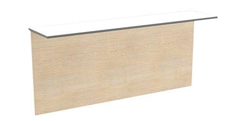 Cancio Table Click Pliable et naturbox à Mur avec Plan Étagère Petit en laminé stratifié Blanc Plan Table Grand en laminé épaisseur 16 mm 110 x 25 grillé