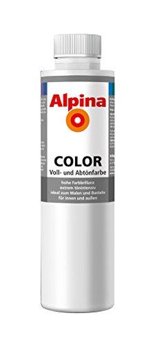 Alpina Farben Voll und Abtönfarbe Wandfarbe Alpina Color Farbton Snow White 750 ml