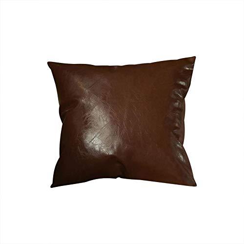 2pcs Fundas de cuero sintético Para Cojines Cuadradas 45Cm X 45Cm Cojín Para La Decoración Del Sofá Casero, Funda de almohada (sin almohada)