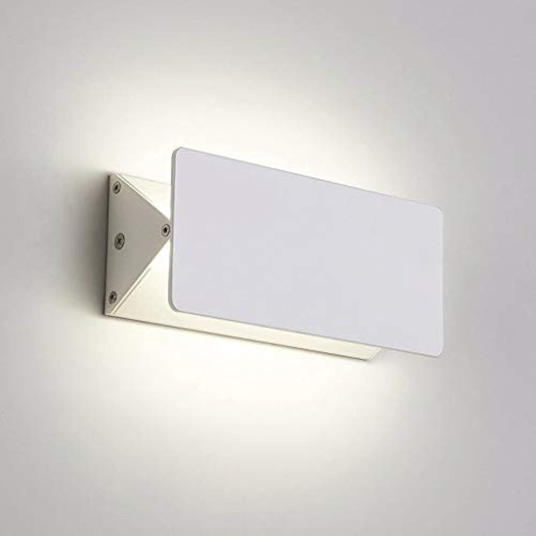 ZTMN Pride S Kreative Aluminium Rotierenden Wandleuchte Nachttischlampe Wohnzimmer Lampe Gang Treppe Hotelzimmer Spiegel Wandleuchten Energieeffizienz A + (Farbe  Warmwei-5w18cm)